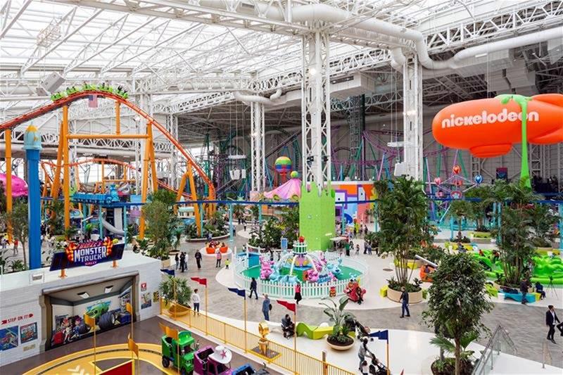 Парк развлечений в торговом центре American Dream(Нью-Джерси)